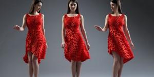 3D друк одягу: чудова яскраво-червона сукня для прихильниць бути в тренді